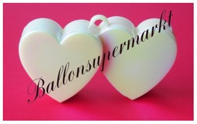ballongewicht herzen perlmuttfarben, Gewicht für Helium-Luftballons