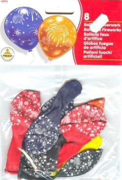 Luftballons Feuerwerk