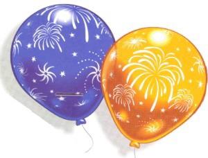 Luftballons Partydekoration Feuerwerk