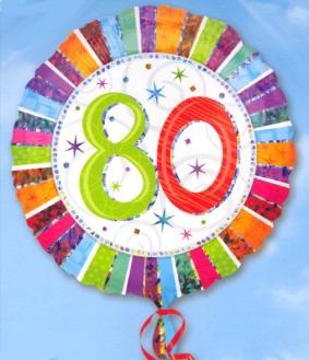 Folienballon: 80. Geburtstag