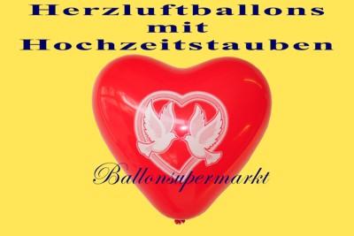 Herzluftballon-Hochzeitstauben-Friedenstauben
