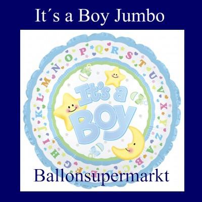 It-is-a-Boy-Ballon-aus-Folie-zu-Geburt-Taufe-Junge