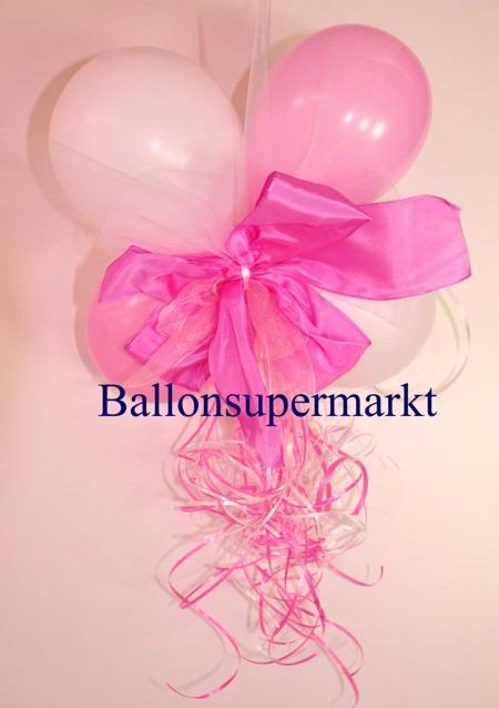 ballonsupermarkt mini luftballons dekoration mit ringelband und zierschleife. Black Bedroom Furniture Sets. Home Design Ideas