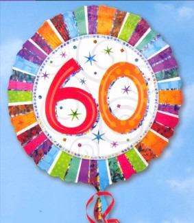 Geburtstag 60. Folienballon