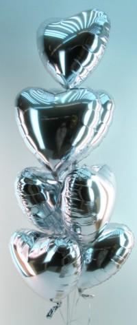Folienballons Silberne Hochzeit
