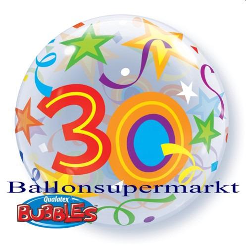 30-Geburtstag-Bubble-Luftballon-ohne-Helium