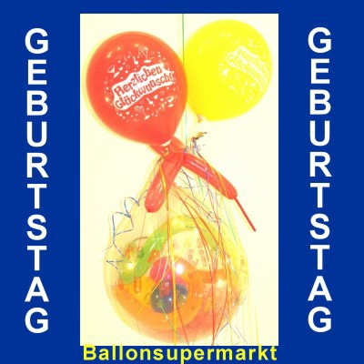 Geburtstagsgeschenk Geschenkballons