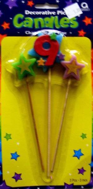 Geburtstagskerze Geburtstagszahl 9