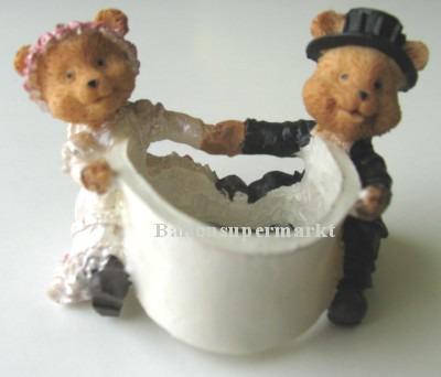 Hochzeitsbaerchen Hochzeitsdeko, Dekoration, Tischdekoration Hochzeitsbaerchen Serviettenhalter, Servietten-Halter