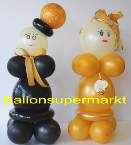 Hochzeitsdeko Hochzeitspaar Aus Luftballons Goldene Hochzeit