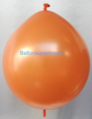 Girlandenballon-Kettenballon-Orange-Metallic