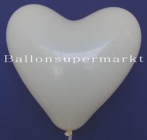 Herzluftballons Elfenbein