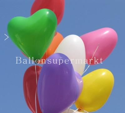 Herzballons Grün