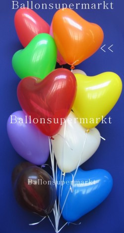 Herzluftballons in Orange