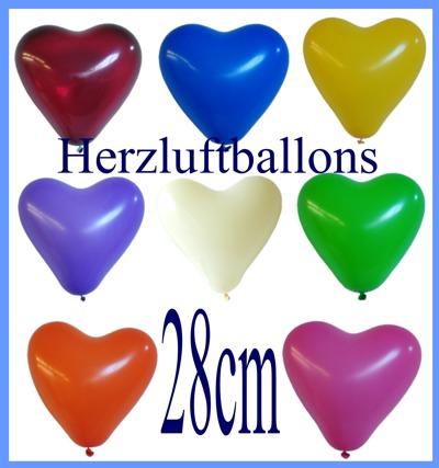 Herzluftballons 28 cm, Farben