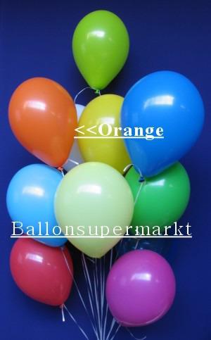 Luftballontraube Standard Rundballons Oval Orange
