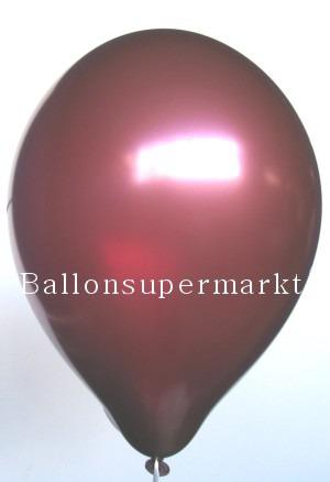 Luftballons Burgund Metallic