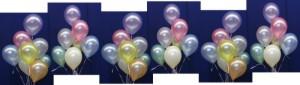 Luftballons Perlmutt Dekoration Hochzeit