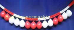 Luftballons Rot-Weiß Girlande Rot-Weiß Fest-und Partydekoration 01