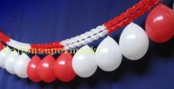 Luftballons Rot-Weiß Girlande Rot-Weiß Fest-und Partydekoration 02