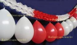 Luftballons Rot-Weiß Girlande Rot-Weiß Fest-und Partydekoration 03