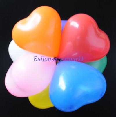 Herzluftballons Mini, Mini-Herzballons, Dekorationsballons aus Latex, Luftballons Herzen in Miniaturform
