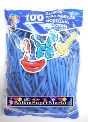 Modellierballons, Luftballons zum Modellieren, blau-100 Stück