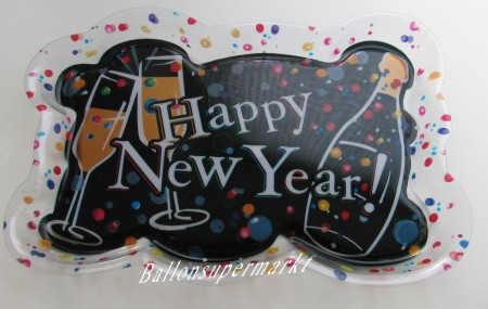 Silvester, Tischdekoration, Tablett: Happy New Year