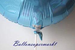 Ballonstab am Folienballon, Luftballonstab am Luftballon aus Folie