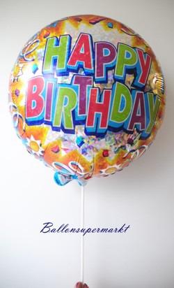 Ballonstab am Luftballon aus Folie, Luftballonstab und Luftballon-Halter