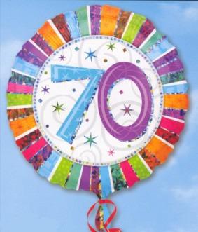 Folienballon: 70. Geburtstag