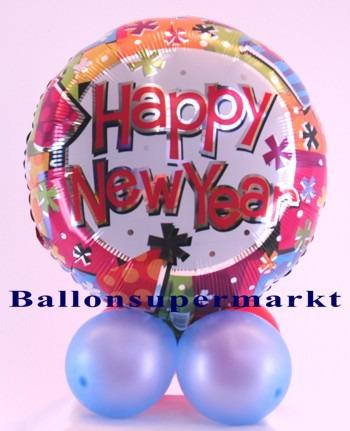 Tischdekoration-bunter-Folien-Luftballon-Silvester