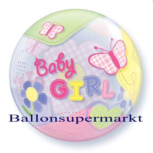 Geburt-Baby-Girl-Bubble-Luftballon-ohne-Helium-2