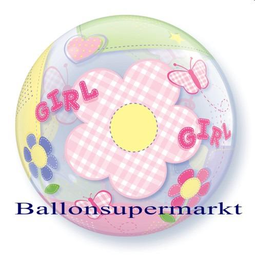 Geburt-Baby-Girl-Bubble-Luftballon-ohne-Helium