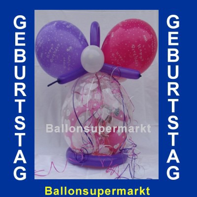 Geburtstagsgeschenk im Geschenkballon