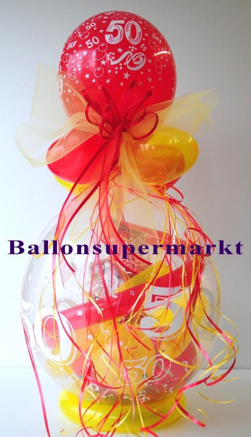 ballonsupermarkt geschenkballon zum 50. Black Bedroom Furniture Sets. Home Design Ideas