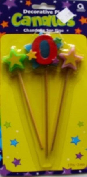 Geburtstagskerze Geburtstagszahl 0
