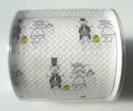 Toielettenpapier, Scherzartikel zu Liebe und Hochzeit, Just Married