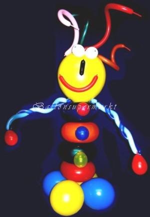 Luftballonfigur aus Ringballons, Halloween-Monster