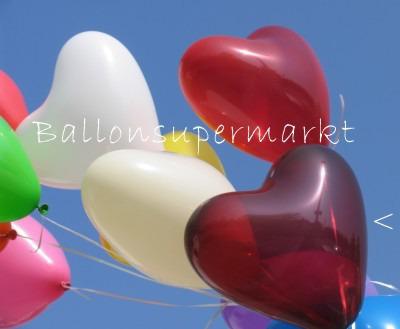 Herzballons Burgund