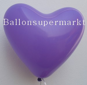 Herzluftballons in Lila