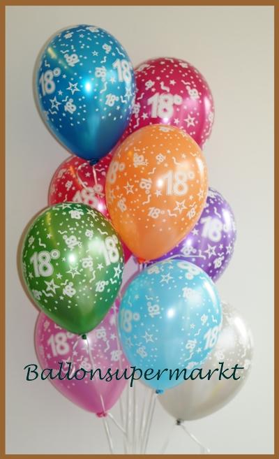 Luftballons Zahl 18