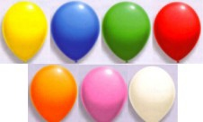 Luftballons Farben, 25 cm Latex-Luftballons