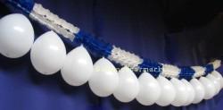 Festdeko Blau-Weisse Girlande weisse Luftballons 04
