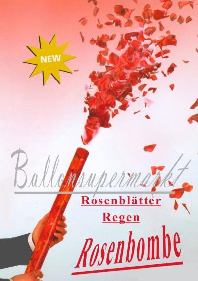 Kanone Hochzeit Rosenblätter Regen