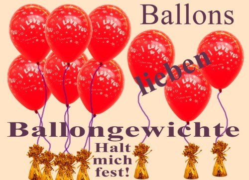 Ballons-lieben-Ballongewichte