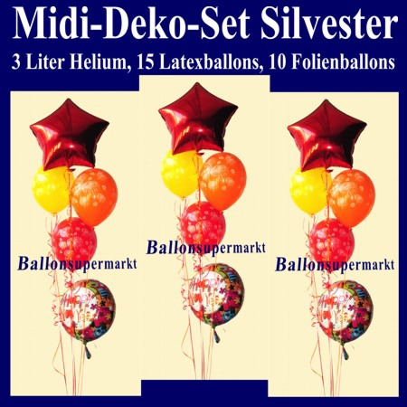 Midi-Luftballons-Helium-Set-Silvester-Happy-New-Year