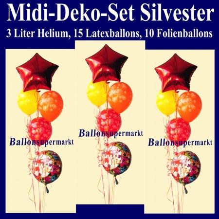 Midi-Luftballons-Helium-Set-Silvester-Happy-New-Year