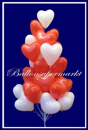 Herzluftballons-Farben-Rot-und-Weiss
