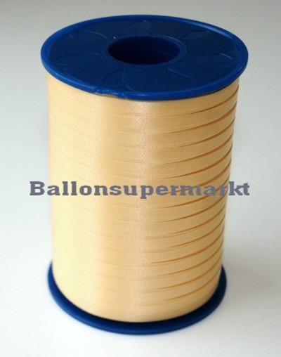 Ballonband auf Rolle, Mattgold